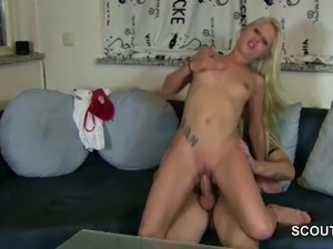 Skinny German Teen Love Anal Fuck by Stranger Boys