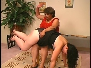 Big lady spanks Big lady